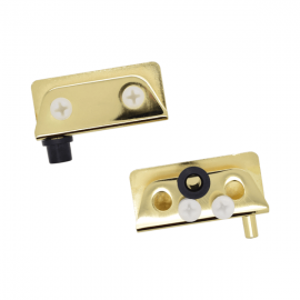 Non Drill Glass Door Pivot Hinge Gold