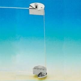 Non Drill Pivot Hinge With Ball Catch Chrome