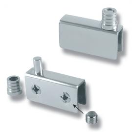 Non Drill Pivot Hinge - 42mm x 20mm - 6mm Glass