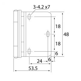 Overlay Drilled Glass Door Hinges 12 Kg Pr - Polished Chrome