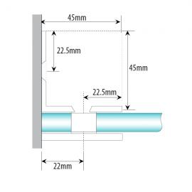 Wall Mount -L Type Shower Fixing - Satin Chrome
