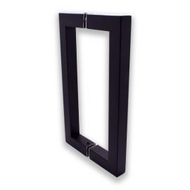 150mm Door Handle 19mm Square Tube  Matt Black