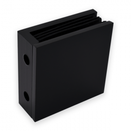 Wall To Glass Fixing - Square Range - Black