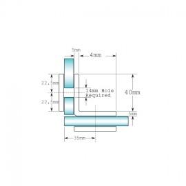 90 Degree Glass To Glass Fixing - Square Range - Black