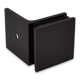 90 degree Wall To Glass Fixing - Square Range - Black