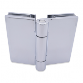 Shower Hinge - Free Swing - Glass to Glass - Polished Chrome