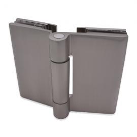 Shower Hinge - Free Swing - Glass to Glass - Satin Chrome