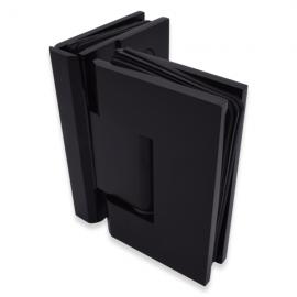 Shannon SQ Range - 90 Degree Glass To Glass Hinge - Black