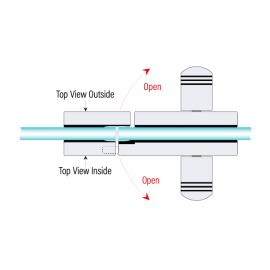 Indicator Lock - Single Action - Polished Stainless