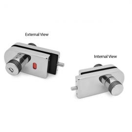 Indicator Lock - Single Action - Satin Stainless