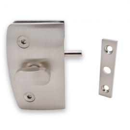 Indicator Lock with  Receiver - Glass to Wall - SS