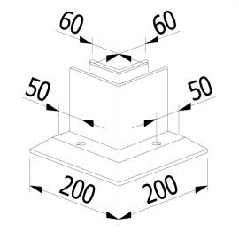 OnLevel 3010 F Type 90 Degree Internal Corner