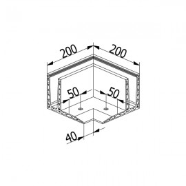 OnLevel 3020 F Type Top Mount External Corner