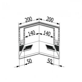 OnLevel 3021 Y Type Top Mount Internal Corner