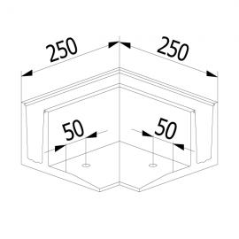 On Level 3030 90 Degree Corner - External