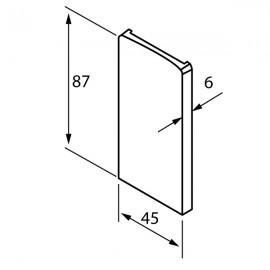 OnLevel 6500 Parapet Wall Profile End Cap - Anodised Alum.