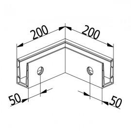 OnLevel 6501 Inside Corner - Anodised Aluminium