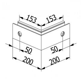 OnLevel 6501 Outside Corner - Anodised Aluminium