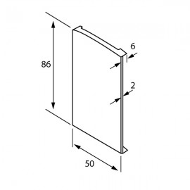 OnLevel 6501 End Cap For Use With Cladding  - Left