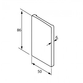 OnLevel 6501 End Cap For Use With Cladding  - Right