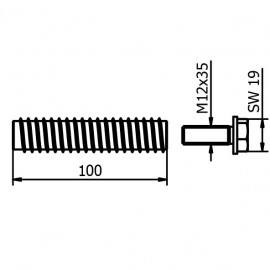 100mm Fixing For Wood