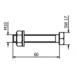 60mm Fixing For Steel - Zinc Plated
