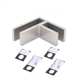 90 Degree SS Glass To Glass Panel Support 10-12.76mm Glass