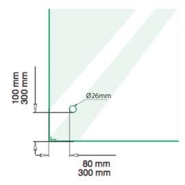 50mm Adjustable Point Fixture - 316SS - 40mm Standoff