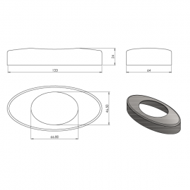 Glass Spigot Replacement Cover Plate