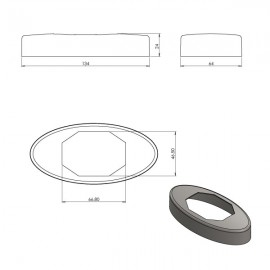 Glass Spigot Replacement  Cover Plate (Square)