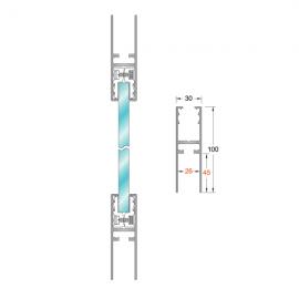 Aluminium Door Rail 1.2Mtrs