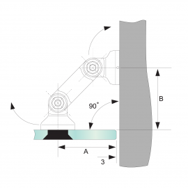 Glass To Wall Partition Bracket