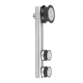 Satin Stainless Steel Roller Hanger - Flat Type