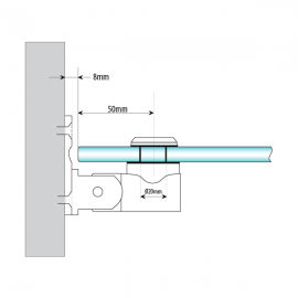 Glass To Wall Hinge SS