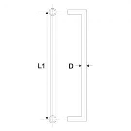 600mm Door Handle - Satin Stainless 32mm Dia