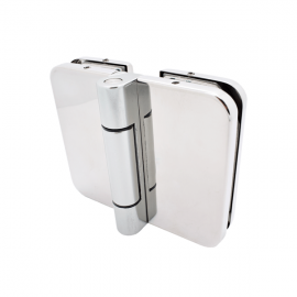 180 Degree Hinge - 8-10mm Glass - Polished Stainless Steel