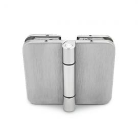 180 Degree Hinge - 8-10mm Glass - Stainless Steel Effect