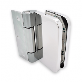 Wall To Glass Hinge - 8-10mm Glass- Polished Stainless Steel