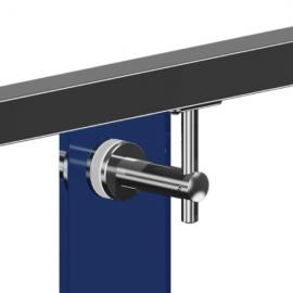 Adjustable Glass To Handrail Bracket - 316SS - Flat Handrail