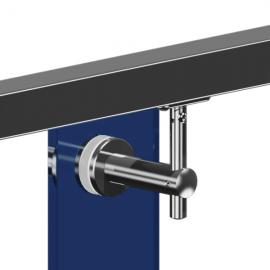 Adjustable Glass To Handrail Bracket - 316SS - Flat - Swivel