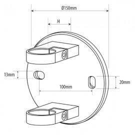 45mm S/O Side Fix Baluster Bracket for Tube 48.3mm x 2.6mm