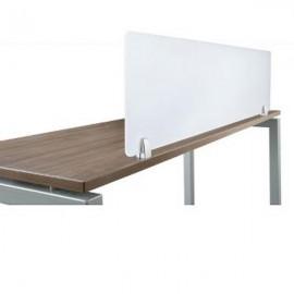 Top Fix Desk Partition Clamp - 4-12mm Thick Panel - Black