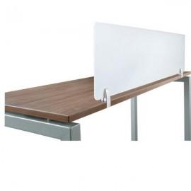 Bottom Fix Desk Partition Clamp - 4-12mm Thick Panel - Black