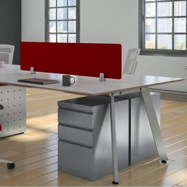 Back2Back Desk Partition Clamp - 4-12mm Thick Panel - Silver