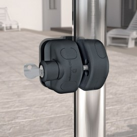 Lockable Glass Gate Magnetic Latch - 8-10mm Thick Glass