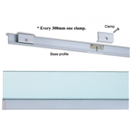 Wall Profile System 10mm Glass 3M (SS)