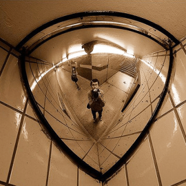 90deg 1/4 Dome Acrylic Mirror 600mm