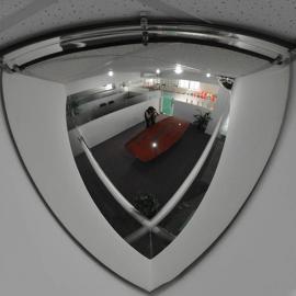 90deg 1/4 Dome Acrylic Mirror 800mm