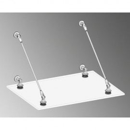 Complete 316 Stainless Steel Canopy Kit for max 13.5mm Glass