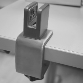 Stainless Steel Desk Partition Clamp - 6/8/10mm Thick Glass